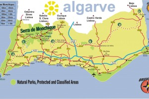 Mapa Algarve Ingles