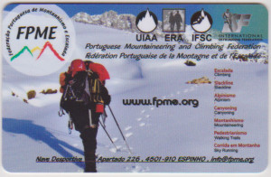 Certificate, Portuguese mountaneering and climbing federation